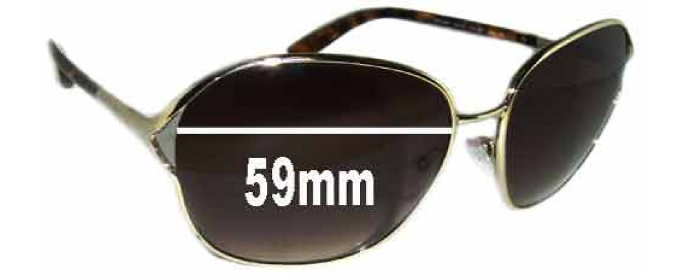 Prada SPR58M Replacement Sunglass Lenses - 59mm wide