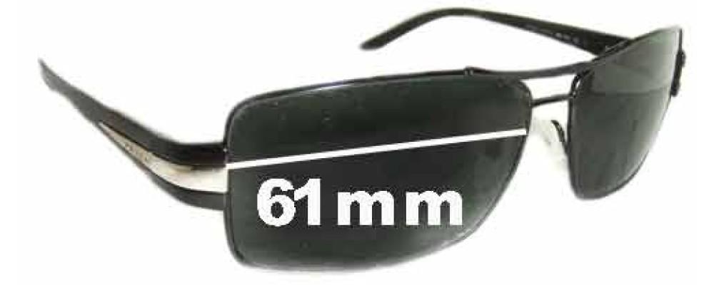 Prada SPR65H Replacement Sunglass Lenses - 61mm lens