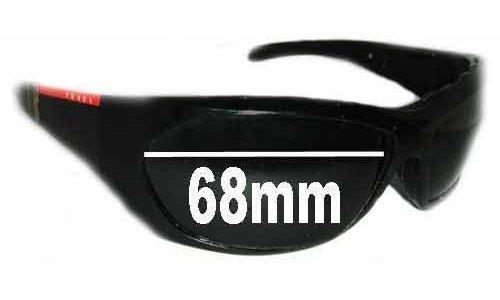 Prada SPS04H Replacement Sunglass Lenses - 68mm wide
