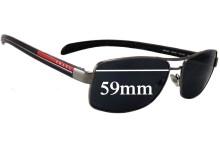 Prada SPS50L Replacement Sunglass Lenses - 59mm Wide