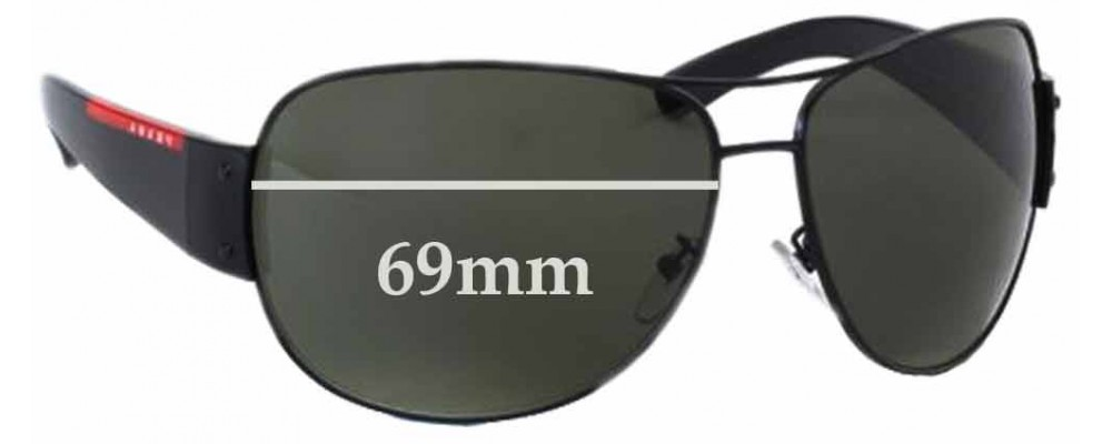 bd1b1fecf6 Sunglass Fix Replacement Lenses for Prada SPS54E - 69mm wide