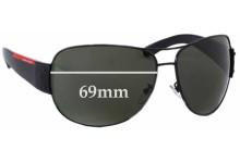 Prada SPS54E Replacement Sunglass Lenses - 69mm wide