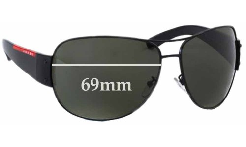 Prada SPS54E Replacement Sunglass Lenses - 69mm wide