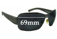 Prada SPS56G Replacement Sunglass Lenses - 69mm wide *MUST BE SENT TO OUR FACILITIES FOR CUSTOM FITTING*