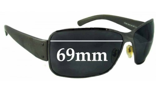Sunglass Fix Replacement Lenses for Prada SPS56G - 69mm wide *MUST BE SENT TO OUR FACILITIES FOR CUSTOM FITTING*