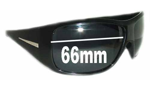 Prada Unidentifed Replacement Sunglass Lenses - 66mm Wide