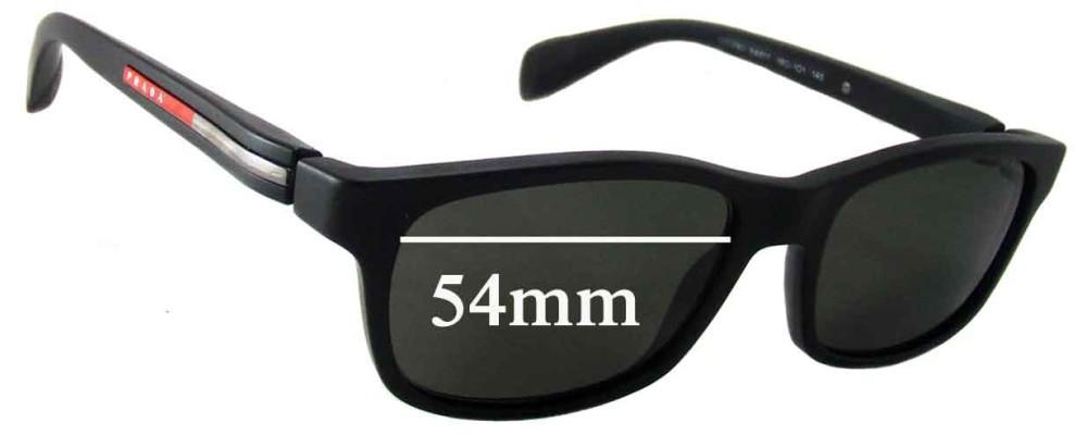 Prada VPS03D Replacement Sunglass Lenses - 54mm wide lens