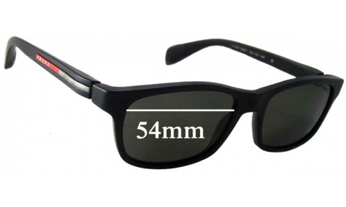 Prada VPS03D Replacement Sunglass Lenses - 54mm wide lens
