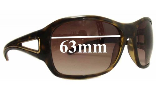 Prada SPR15L Replacement Sunglass Lenses 63mm lens