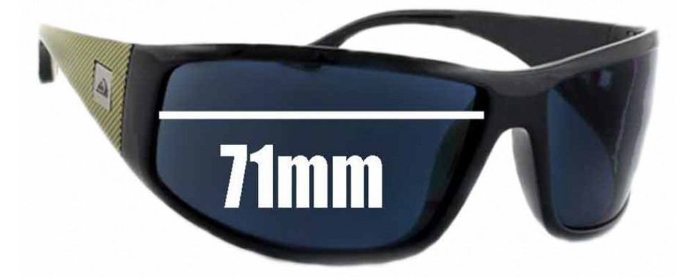 93343817b3 Quiksilver AKKA DAKKA Replacement Sunglass Lenses - 71mm Wide
