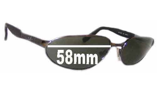 Ray Ban Predator RB3252 Replacement Sunglass Lenses- 58mm wide