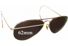 7c885ce4405 Ray Ban Aviators B L Replacement Sunglass Lenses - 62mm Wide