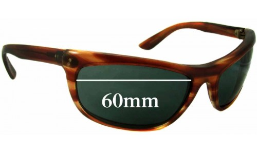 Sunglass Fix Replacement Lenses for Ray Ban L2872 Baloramas Bausch Lomb - 60mm Wide