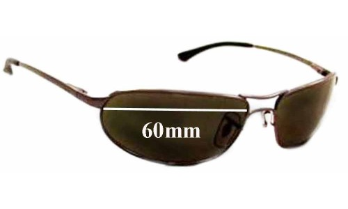 Ray Ban Curve RB3169 Replacement Sunglass Lenses - 60mm Wide