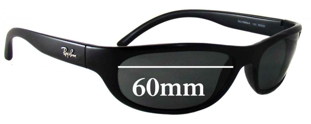 Ray Ban RAJ1566AA Replacement Sunglass Lenses - 60mm wide