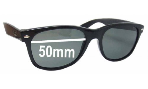 Sunglass Fix Replacement Lenses for Ray Ban RB2132 New Wayfarer 50mm wide x 37 high