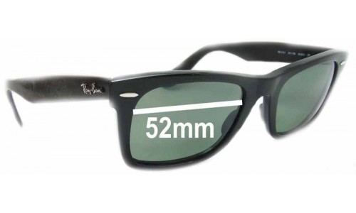 Ray Ban RB2151 Wayfarer Square Replacement Sunglass Lenses - 52mm wide