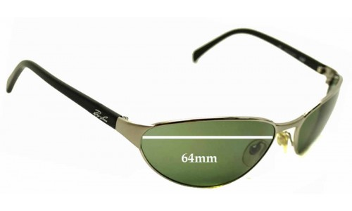 Sunglass Fix Replacement Lenses for Ray Ban Rb3102 Predator - 64mm Wide