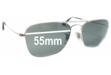 Ray Ban Caravan RB3136 Square Aviators Replacement Sunglass Lenses - 55mm Wide