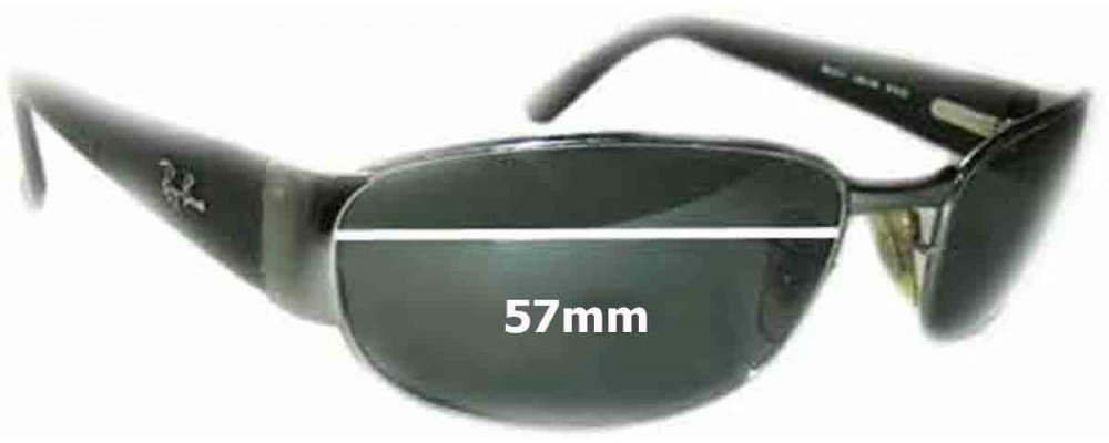 Ray Ban Undercurrent RB3141 Leather II Replacement Sunglass Lenses - 57MM wide