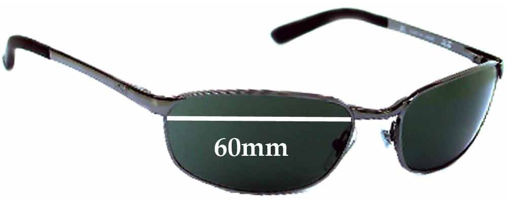 1954407728e Ray Ban RB3175 Replacement Sunglass Lenses - 60mm Wide Lens