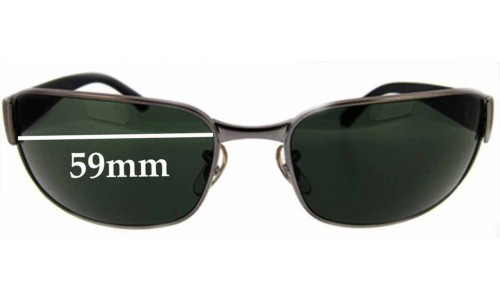Sunglass Fix Replacement Lenses for Ray Ban UNDERCURRENT RB3215 - 59 mm wide