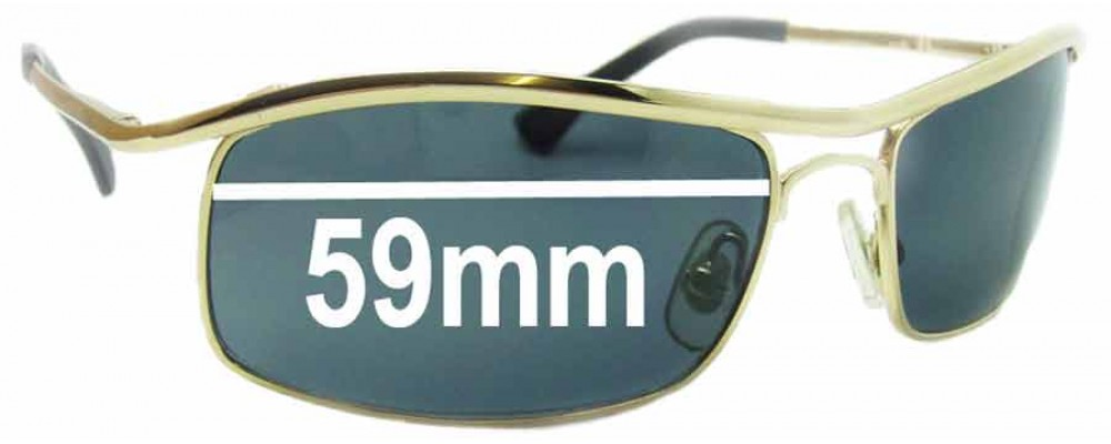 Ray Ban RB3339 Replacement Sunglass Lenses - 59mm Wide