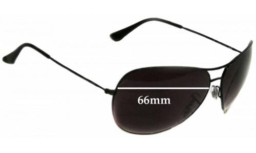 Sunglass Fix Replacement Lenses for Ray Ban RB3340 - 66mm wide