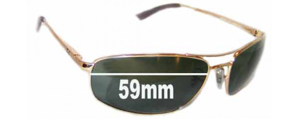 Ray Ban RB3360 Replacement Sunglass Lenses 59mm wide