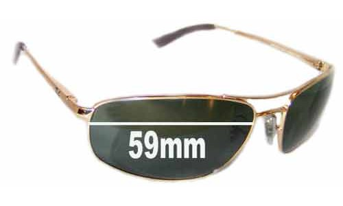 Ray Ban RB3360 New Sunglass Lenses 59mm wide