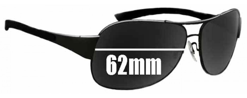 Ray Ban RB3404 Replacement Sunglass Lenses - 62mm wide