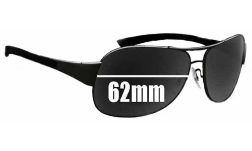 Sunglass Fix Replacement Lenses for Ray Ban RB3404 - 62mm wide
