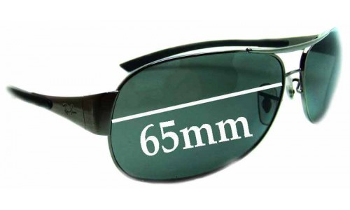 Sunglass Fix Replacement Lenses for Ray Ban RB3404 - 65mm wide