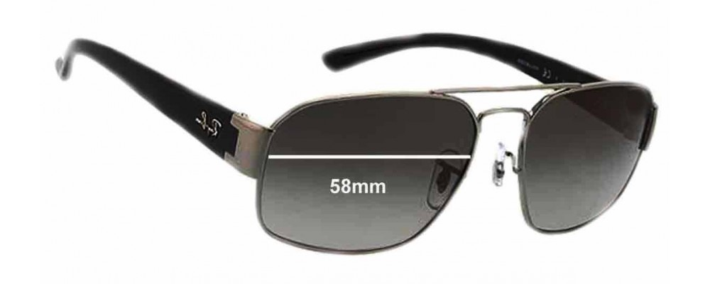 Ray Ban RB3427 Replacement Sunglass Lenses - 58mm Wide