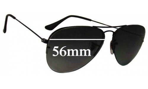 87ed9b41d60 Ray Ban RB3460 Replacement Sunglass Lenses - 56mm Wide