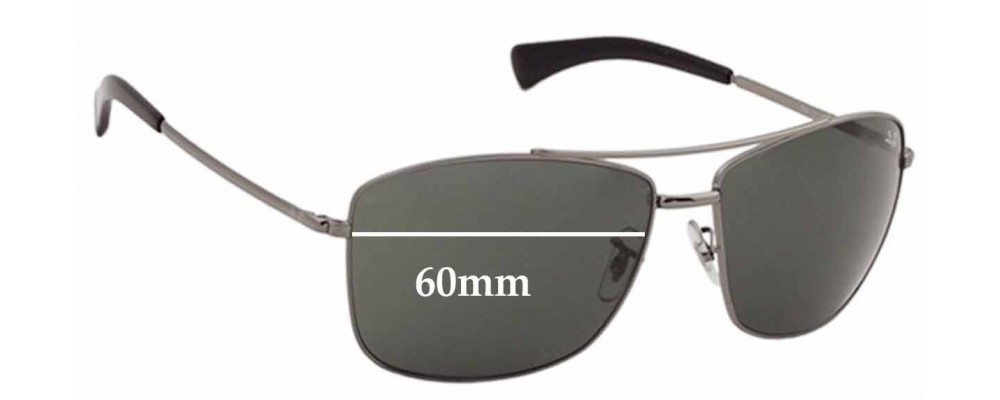 rb3476  Ban RB3476 Replacement Sunglass Lenses - 60mm across