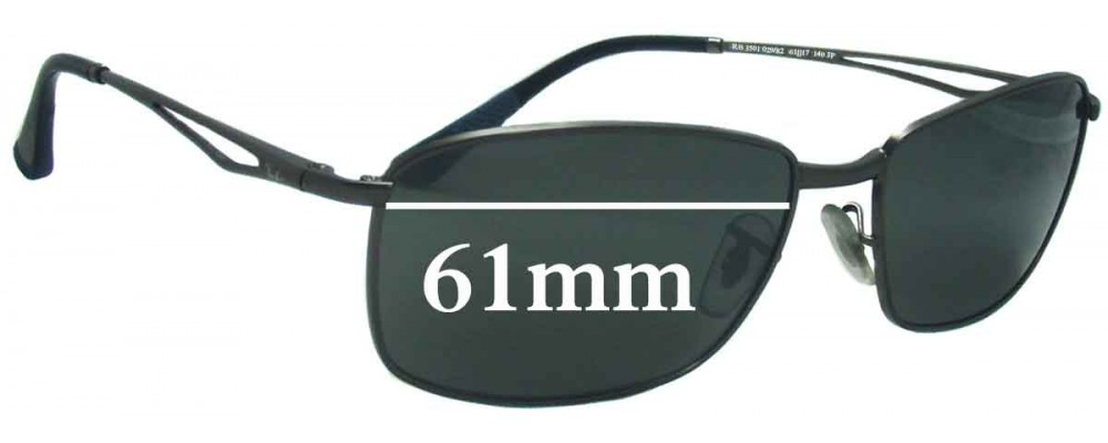Ray Ban RB3501 Replacement Sunglass Lenses - 61mm Wide