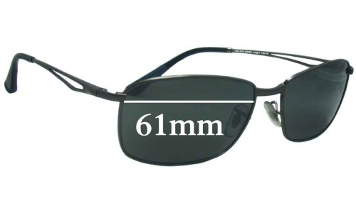 Sunglass Fix Replacement Lenses for Ray Ban RB3501 - 61mm Wide