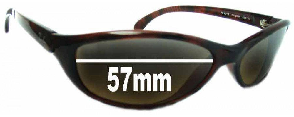 Ray Ban Raider RB4014 Replacement Sunglass Lenses - 57mm Wide