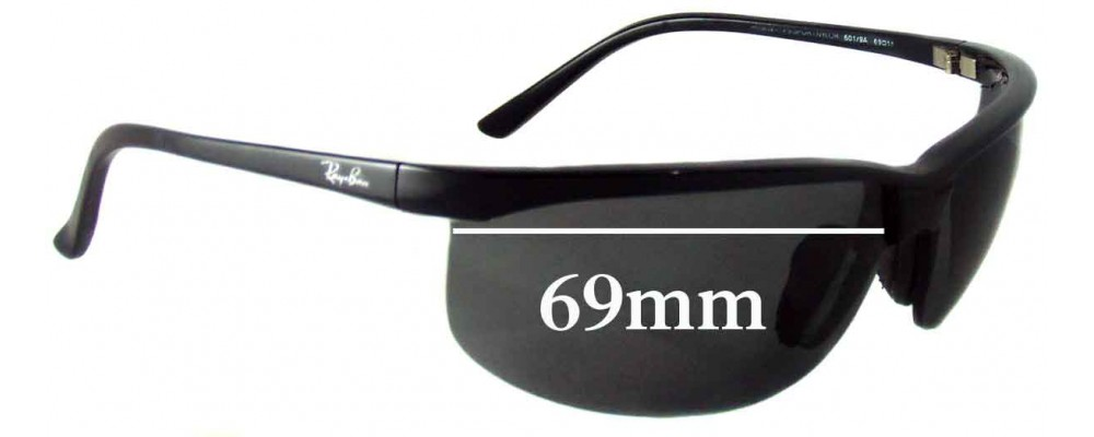 1af3f9fe5dc84 Ray Ban RB4021 Sport Nylor Replacement Lenses - 69mm across ...