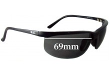 Ray Ban RB4021 Sport Nylor Replacement Sunglass Lenses - 69mm across