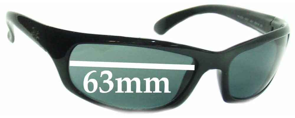 Ray Ban RB4026 Shot Square Replacement Sunglass Lenses - 63mm wide lenses