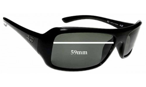 Ray Ban RB 4073 Replacement Sunglass Lenses - 59mm wide lenses