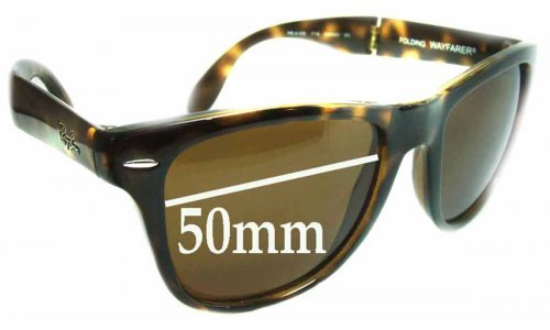 Ray Ban Folding Wayfarer RB4105 Replacement Sunglass Lenses - 50mm wide