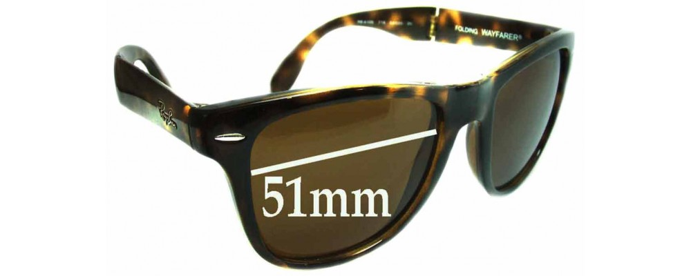 858e6f58e4 ... sweden sunglass fix replacement lenses for ray ban folding wayfarer  rb4105 51mm wide e8742 2d34f