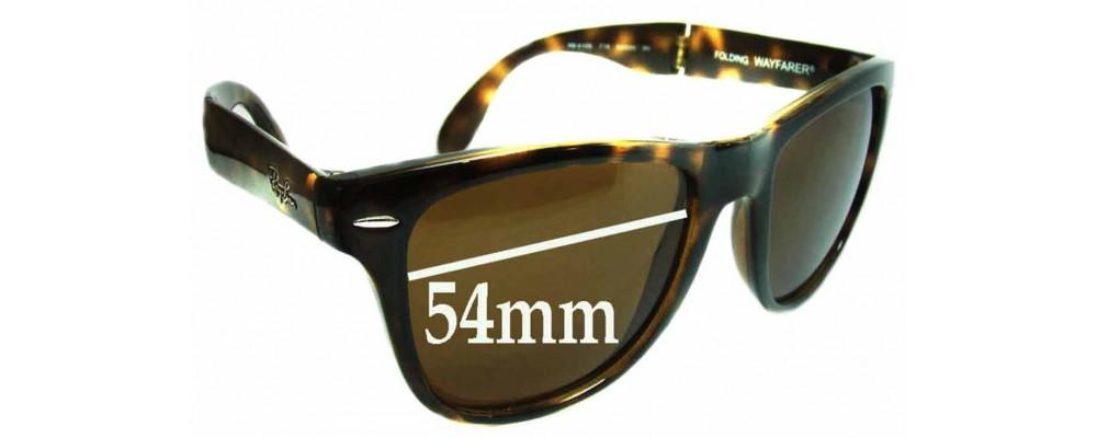Ray Ban Folding Wayfarer RB4105 Replacement Sunglass Lenses - 54mm wide