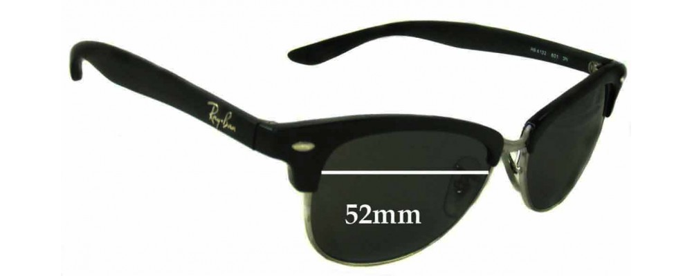 Ray Ban RB4132 Wayfarer Replacement Sunglass Lenses - 52mm wide