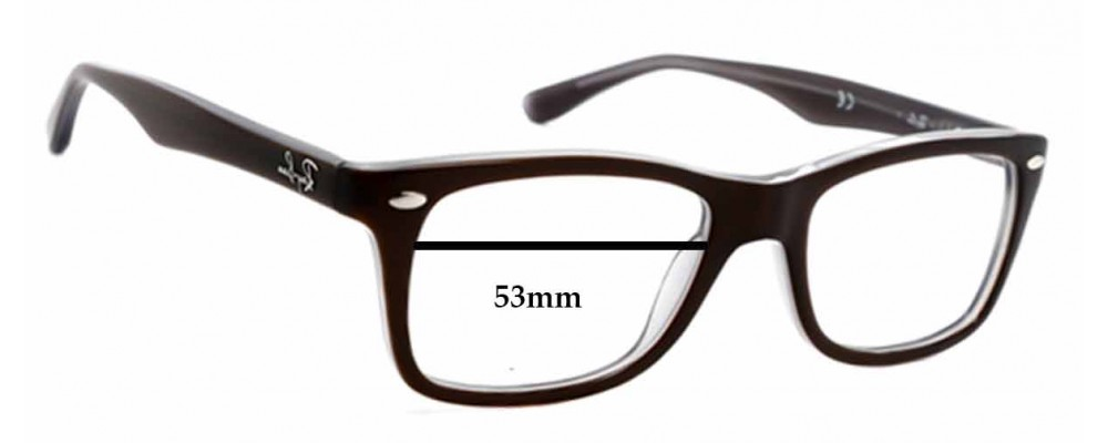 eb188488ef232 Ray Ban RB5228 Replacement Lenses - 53mm wide