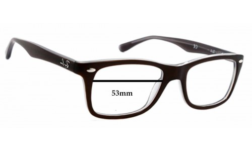Sunglass Fix Replacement Lenses for Ray Ban RB5228 - 53mm wide