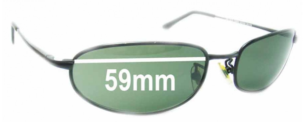 Ray Ban RB8020 Orbs Replacement Sunglass Lenses - 59mm Wide Lens